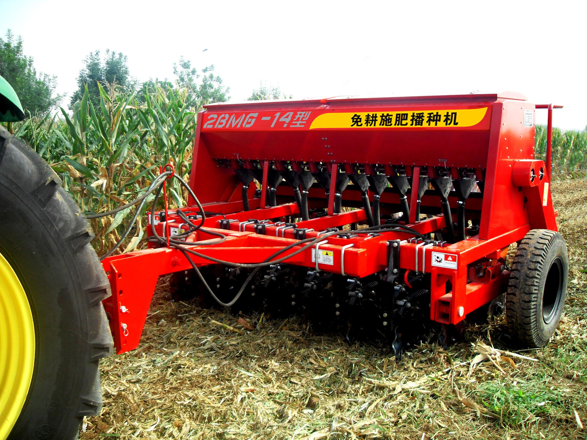 小麦播种机视频_2BMG系列免耕施肥播种机